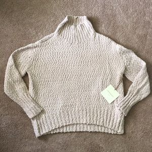 NWT Cynthia Rowley Beige Knobby Knit Sweater